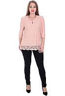 Блуза Оксана розового цвета
