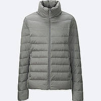 Серая легкая куртка на пуху Uniqlo
