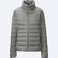 Женская серая легкая куртка на пуху осень/весна японский бренд Uniqlo (пакуется в мешочек), фото 1