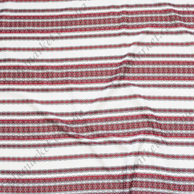 Ткань для скатертей с украинской вышивкой Роксолана ТДК-108 2/1