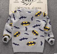 Вязанный свитер Бетман для мальчика 2,3,4,5,6,7 лет