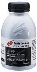 Цветной тонер HP универсальный черный black Static Control (MPTCOL-50B-KOS-P) 50 г