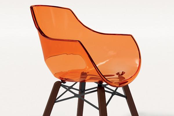Кресло Papatya Opal Wox Iroko, ножки дерево Iroko (прозрачное) - Мебель Вашего Комфорта в Киеве