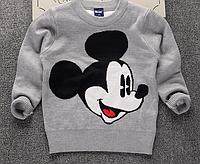 Вязанный свитер Микки для мальчика 2,3,4,5,6,7 лет