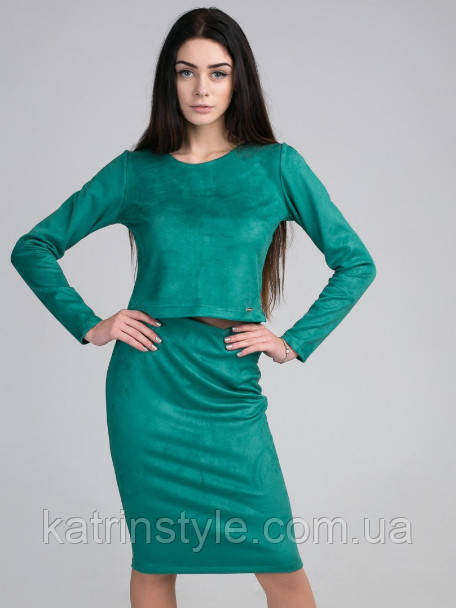Женский костюм из топа и юбки