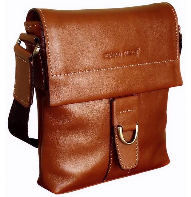 bba0b3c691a3 Небольшая наплечная сумка-карман с клапаном. Имеет одно основное отделение,  закрывающееся на молнию. Изготовлена из высококачественной натуральной  гладкой ...