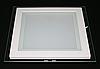 Светильник LED врезной со стеклом квадрат 18 W 3200К Тёплый свет