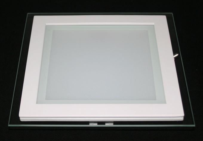 Светильник LED врезной со стеклом квадрат 18 W 3200К Тёплый свет, фото 2