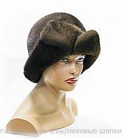 """Женская меховая шляпа из норки """"Диана"""" (пастель)"""