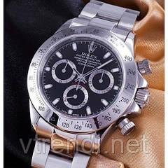 Часы в стиле Rolex Daytona silver (black  )