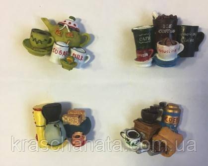 Магнит для холодильника, Кофе, полистоун/металл, Сувениры, Днепропетровск
