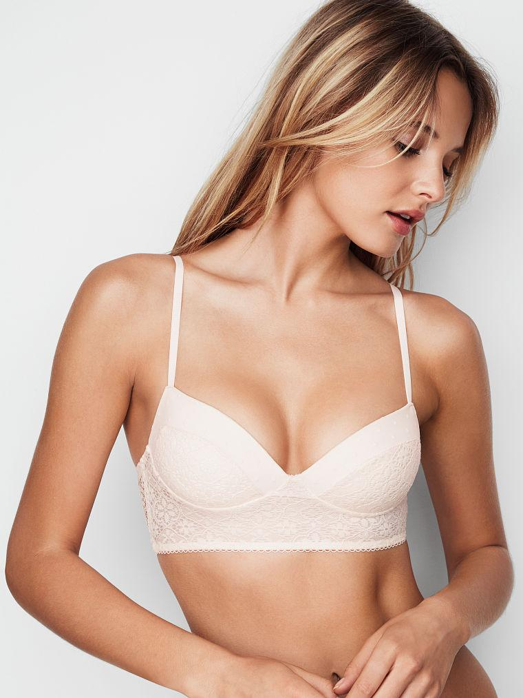 1c4ca2770a25c Victoria's Secret бралетт с пуш ап оригинал коллекция Bralette Collection  размер S цвет белый - Martysh