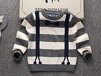 Вязанный свитер  Джентльмен  для мальчика 1,2,3,4,5 лет