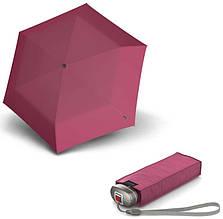 Современный женский механический зонт Knirps Travel Pink UV Protection Kn89 815 1300, розовый