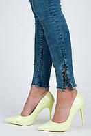 10-21 Зеленые женские туфли на шпильке E396-31L-GR