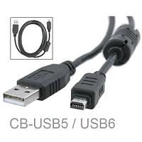 Кабель (шнур) USB CB-USB5  CB-USB6 для Olympus C-180  D-545  D-630  E-300  FE-200  SP-310  SP-700  X-70, фото 1