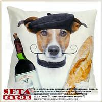 Наволочка Dog Француз 43х43 см декоративная