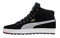 Мужские ботинки Puma Suede High Black, на меху