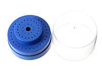 Подставка для боров круглая с крышкой 50+10 шт., ВВ03 синяя