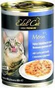 Консервы для кошек Эдел (Edel Cat) с лососем и форелью в соусе, 400 гр