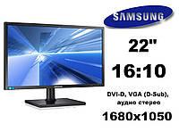 """Монитор 22"""" Samsung S22C450MW чорный 16:10 1680x1050 (к. 3602)"""