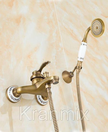 Смеситель для ванны бронзовый Aquaroom душевая стойка кран в раковину для умывальника
