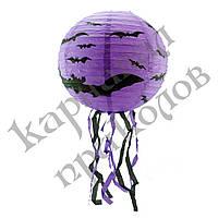 Декор подвесной (30см) фиолетовый с летучей мышью