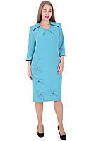 Платье 6118 Голубого цвета
