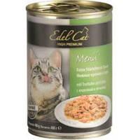 Консервы для кошек Эдел (Edel Cat) с индейкой и печенью в соусе, 400 гр