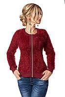 Теплая женская кофта 400 (бордовый)