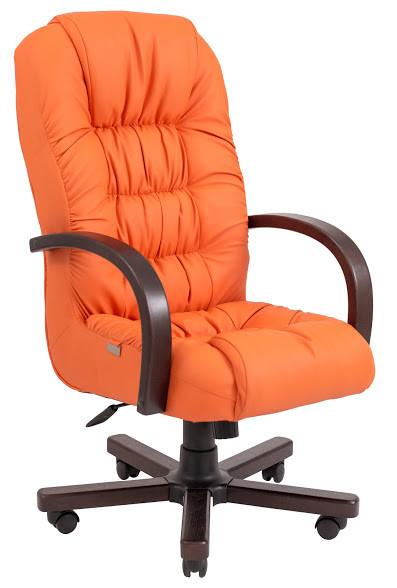 Кресло Ричард Вуд Орех механизм Tilt кожзаменитель Флай-2218 (Richman ТМ)