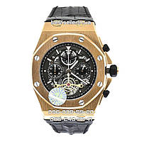 Часы Audemars Piguet Automatic 41mm Chronograph gold/black. Класс: ELITE.