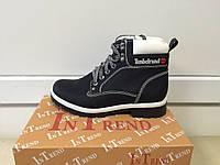 Женские зимние черные ботинки, копия Тимберленд In-Trend 2294 blnw