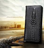 Мужской кожаный портмоне - клатч Lacoste