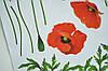 Наклейка на стену, виниловые наклейки, стикеры красные маки цветы (лист50*70см), фото 4