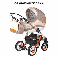 Универсальная коляска 2в1 Adamex Aspena Grand Prix Collection Orange White