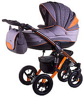 Универсальная коляска 2в1 Adamex Aspena Grand Prix Collection Orange Black