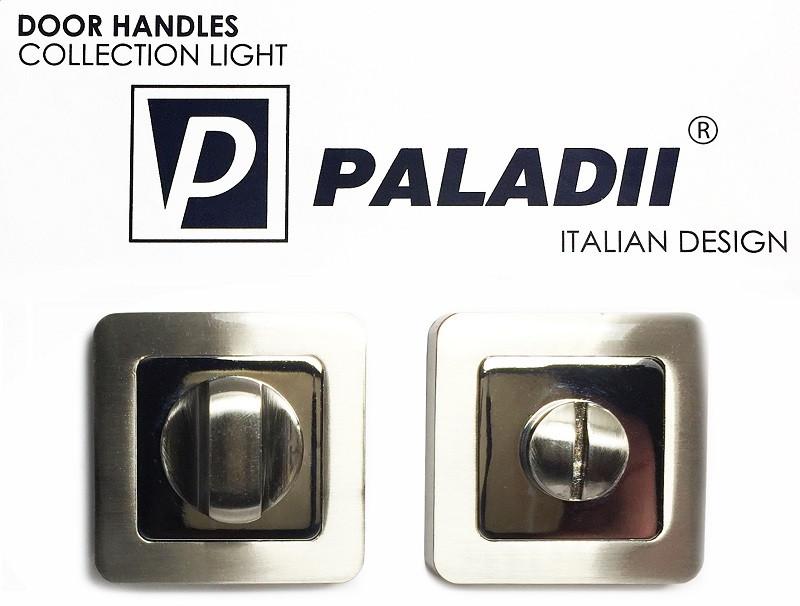 PALADII поворотник WC квадратный SN/CP сатен-хром