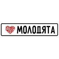 """Свадебный номер для машины """"Молодята"""" (арт. K6)"""