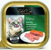 Консервы для кошек Эдел (Edel Cat) с мясом кролика, паштет 100 гр