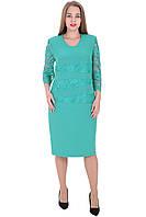 Платье 658 Голубого цвета
