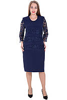 Платье 658 Темно-синего цвета