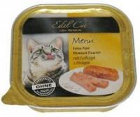 Консервы для кошек Эдел (Edel Cat) с мясом птицы, паштет 100 гр