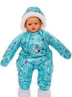 Зимний комбинезон для новорожденных (0-6 месяцев) зеленый беби