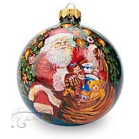 Новогодний елочный шар '' Дедушка мороз и ангелы''