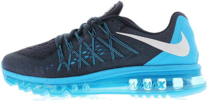 f94b7852 Кроссовки мужские Найк Nike Air Max 2015 Black\Blue. ТОП Реплика ААА класса.