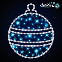 Светодиодная новогодняя фигура шар AuroraSvet  0,6м*0,68м