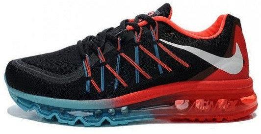 Кроссовки мужские Найк Nike Air Max 2015 Black\Red. ТОП Реплика ААА класса.