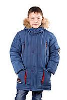 """Зимняя куртка для мальчика с натуральным мехом """"Анкер"""", фото 1"""