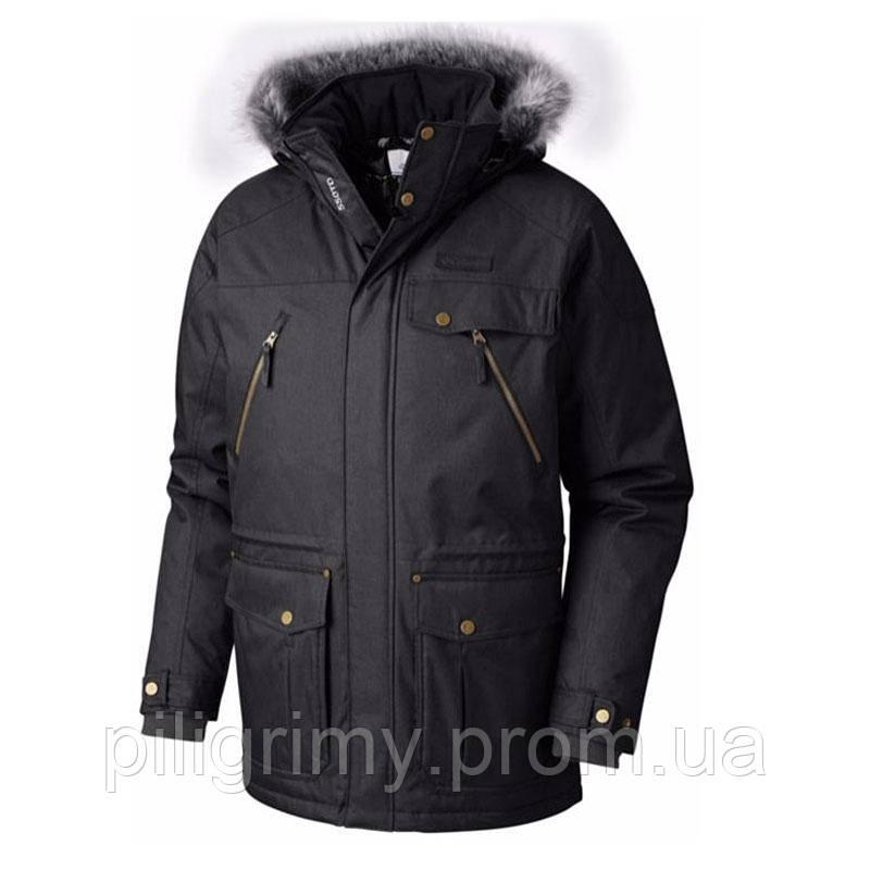Мужская Пуховая Куртка Columbia BARLOW PASS 550 TURBODOWN™ JACKET  Черно-серая 1619283-014 L — в Категории